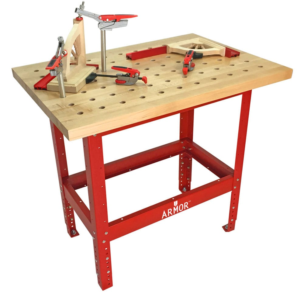 Swell 54X25 Butcher Block Dog Table Incl Deluxe Dog Clamp Package No Casters Armor Tool Squirreltailoven Fun Painted Chair Ideas Images Squirreltailovenorg